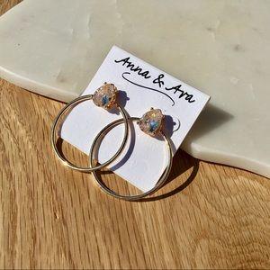 Anna & Ava Large Crystal Earrings